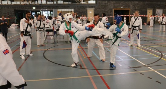 Sparring match during one of the Gup poules.